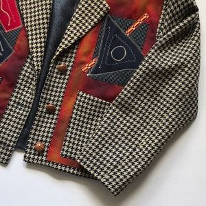 Canvasbacks Jackets & Coats - Vintage wool cashmere collage patch jacket Sz XS